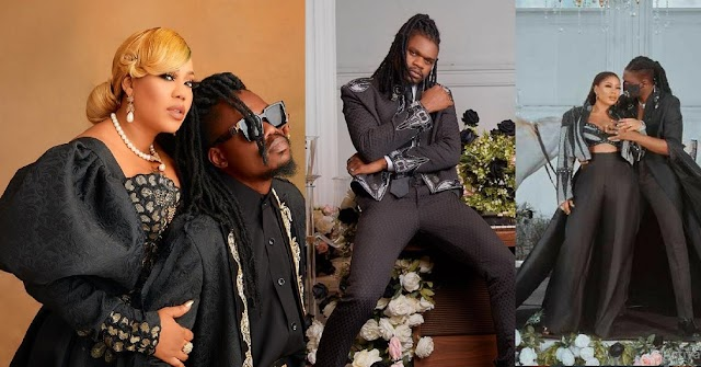 Barely a month after their wedding, Toyin Lawani's husband, Segun Wealth, caught lusting after a black American 'Bum Bum'