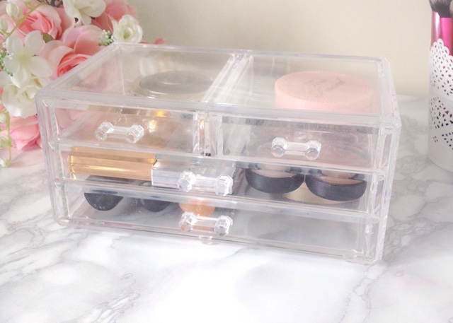acrylic makeup drawer storage