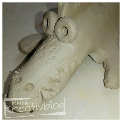 kleiner-kreativblog: Ton-Krokodile für Kinder
