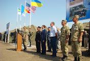 На Николаевщине подняли национальные флаги стран-участниц учений «Си бриз-2015»