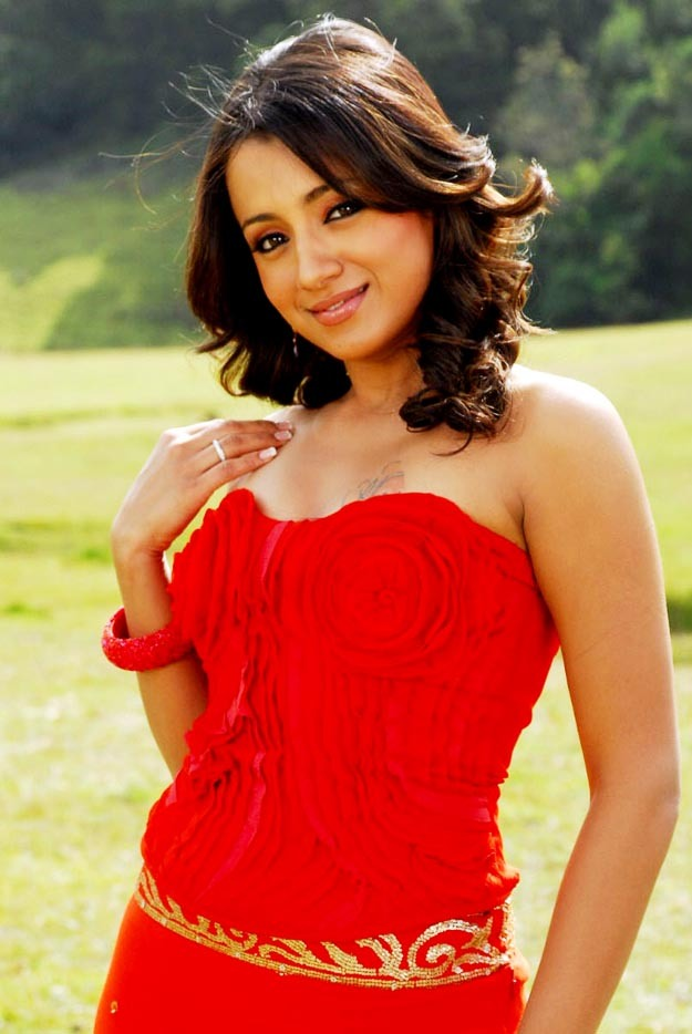 Trisha Hot in Red Dress-Lovely Hot Image Collection