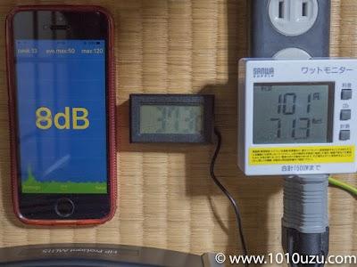 交換後CPU使用率25%:騒音レベル8dBチップセット温度37.3℃ 消費電力71.3W