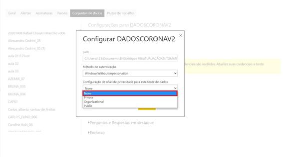 Power BI Atualização automatica com Gateway