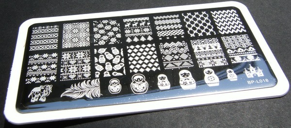 BP-L018 rectangular plate from BornPrettyStore
