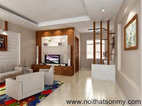 Mẫu thiết kế nội thất phòng khách 321