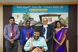 Canara Bank Founders Day in Mangaluru | ಕೆನರಾ ಬ್ಯಾಂಕ್ ಸಂಸ್ಥಾಪಕರ ದಿನಾಚರಣೆ-ಉದ್ಯಮಿಗೆ ಸನ್ಮಾನ