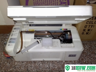 How to reset flashing lights for Epson CX2900 printer