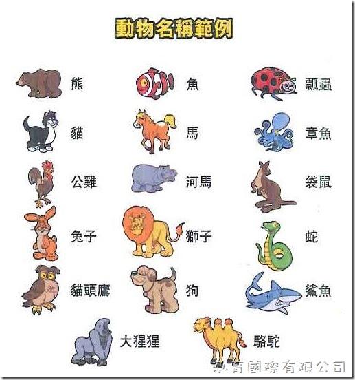 哆寶兒童版_動物名稱範例