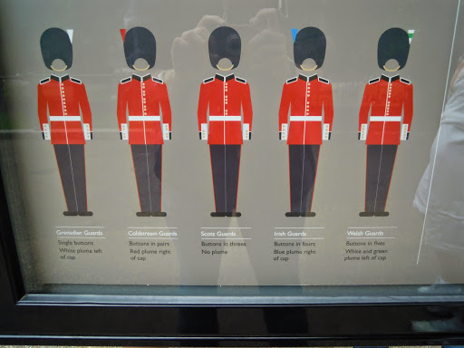 Guards - Plumes and Buttons. From The Complete Guide to the Changing of the Guards