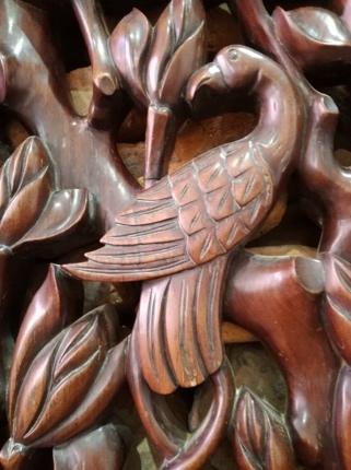 Detail houtsnijwerk