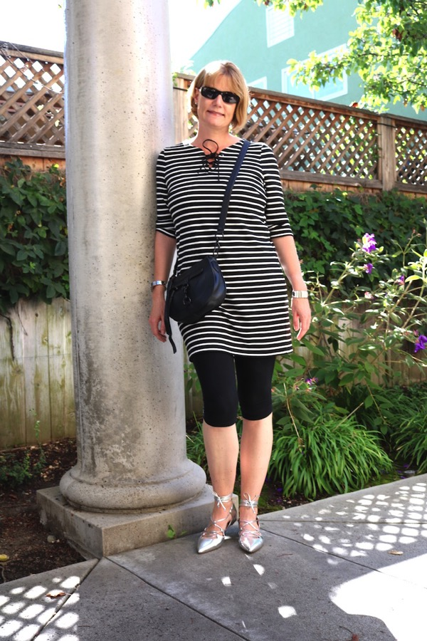 Black White Striped Tunic 2