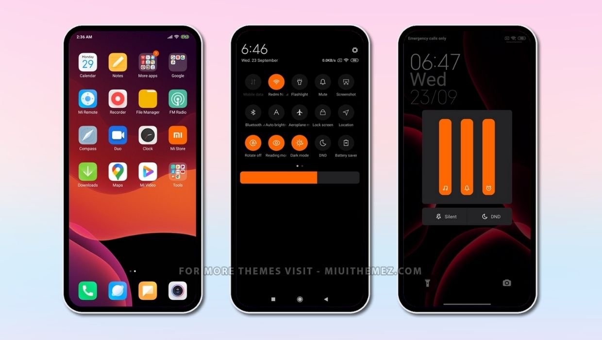 DARK MODE [Orange] MIUI Theme