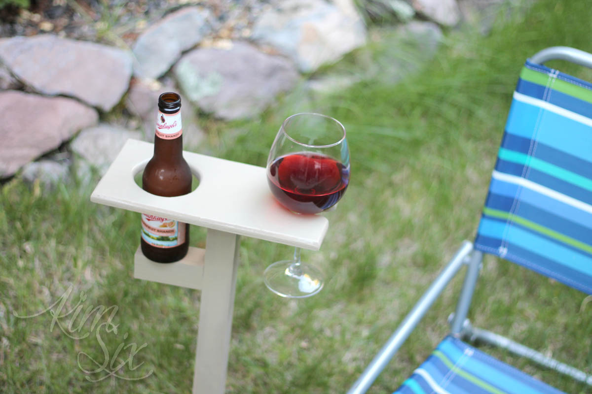 Portable backyard Beer and wine caddy