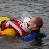 Rescue using a lifeguard rescue tube during Open Day