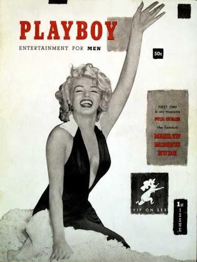 """Marilyn Monroe en la portada del primer número de la revista """"Playboy"""""""