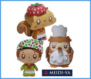 Meidi-Ya Papercraft Mascots