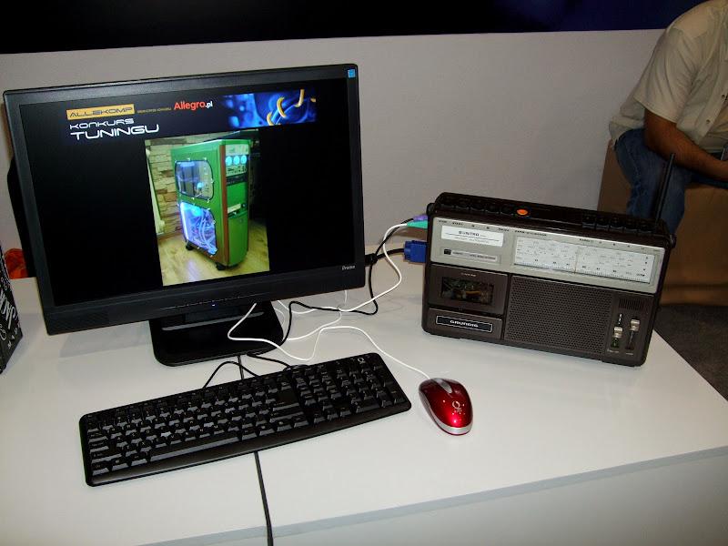 PC po tuningu w obudowie magnetofonu Kasprzak