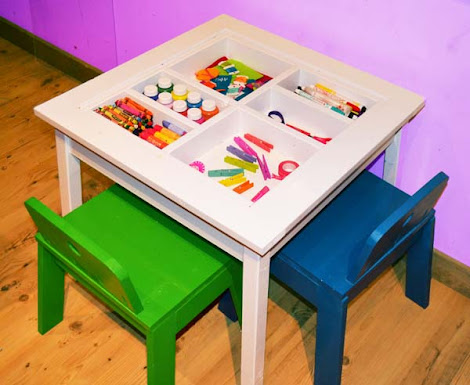 ana white craft table white arts and crafts play table diy projects 3337