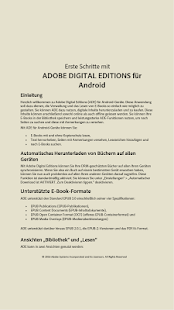 Adobe Digital Editions – Miniaturansicht des Screenshots