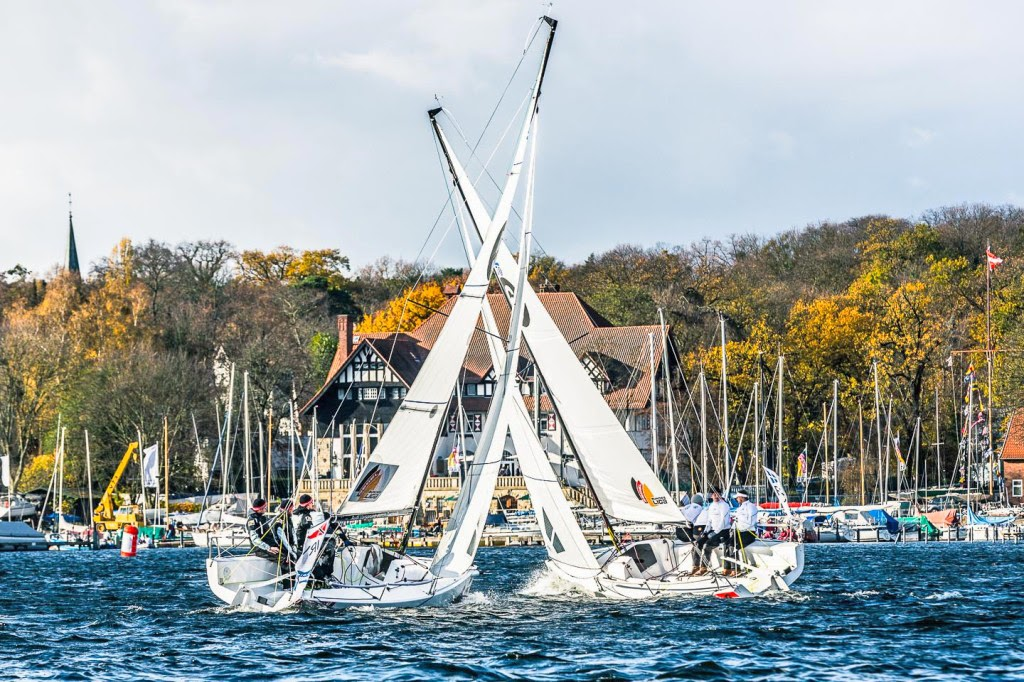J/70s sailing on German lakes