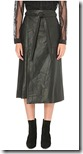 Maje Wrap Around Leather Skirt