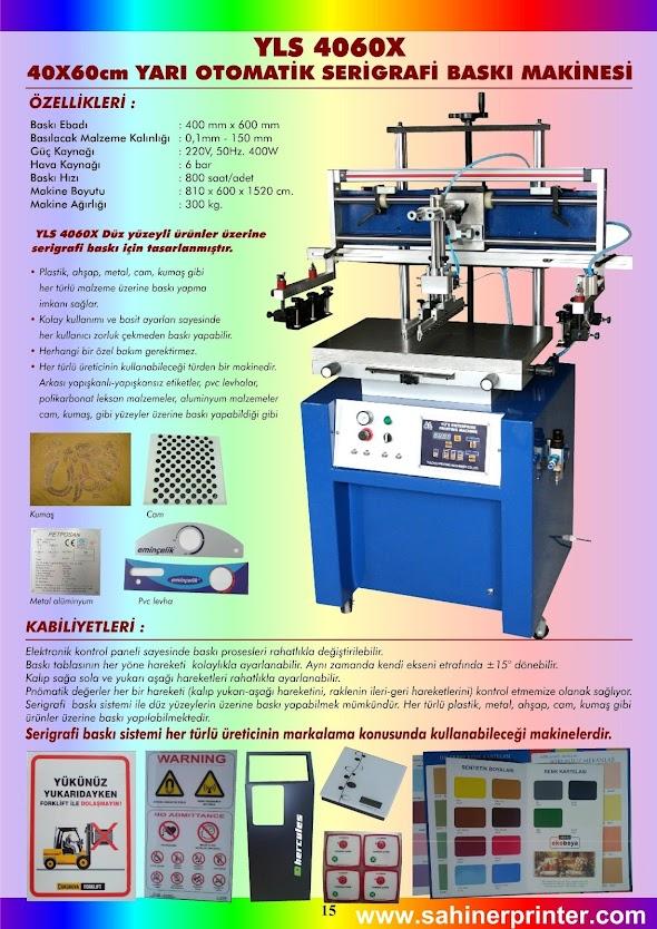 15-YLS 4060X Yarı Otomatik Serigrafi Baskı Makinesi