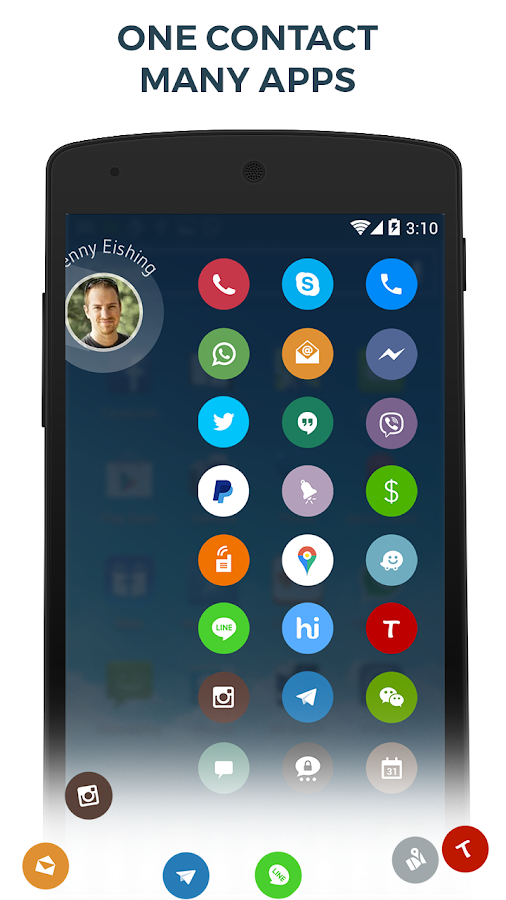 Screenshots of Contacts Phone Dialer: drupe for Android
