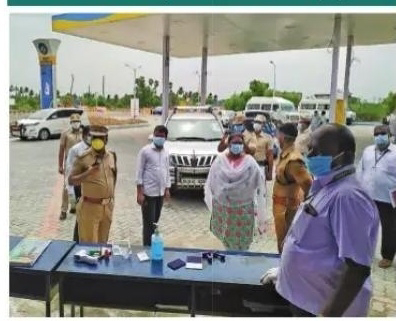 Collector Divyadarshini inaugurated the Corona Testing Center, which is located along the National Highway near the Kariveripakkam With SP Mayville.