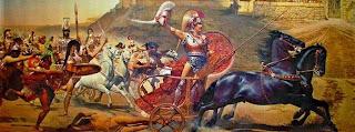 Αχιλλέας γιος του Πηλέα και της Θέτιδας,ημίθεος ήρωας, ανδρεία και τόλμη, Τρωικός πόλεμος.