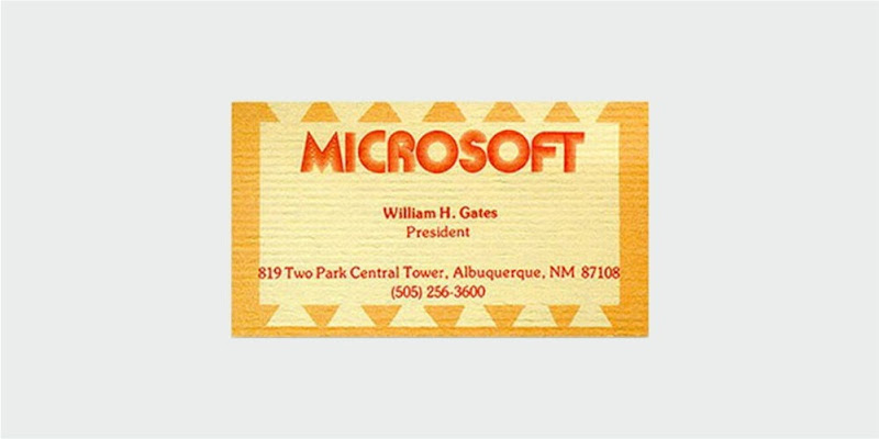 microsoft business card design
