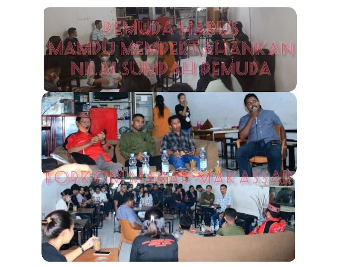 Menyongsong Hari Sumpah Pemuda 28 Oktober 2021, FORKOM MABAR-Makassar Gelar Dialog