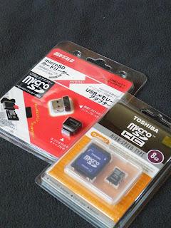 micro SDHCとコンパクトカードリーダー