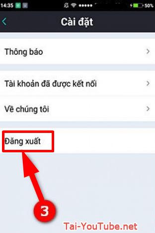 Hướng dẫn đăng xuất tài khoản Bigo Live trên điện thoại cài Android + HÌnh 4