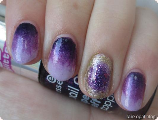 amethyst nails nail art Essence birthstones Nails Inc