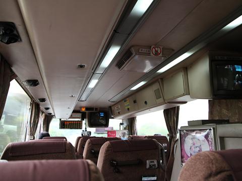 九州産交バス「ぎんなん号」 車内
