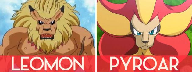 Leomon e Pyroar