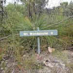 Sign to Mt Wondabyne (53783)