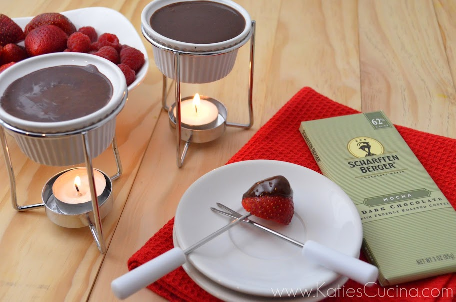 Dark Chocolate Mocha Fondue for Two!