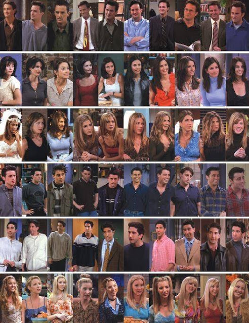 Friends resume from first episode to last...