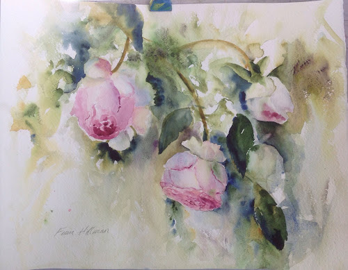 Rose Eden Watercolour