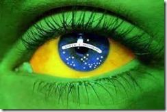 Brasil Bandeira Olho