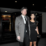 WWW.ENTSIMAGES.COM -   Charlie Brooker  and Konnie Huq at     RTS Programme Awards  Grosvenor House Hotel Park Lane London March 19th 2013                                                  Photo Mobis Photos/OIC 0203 174 1069