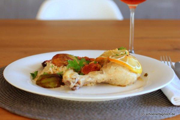 Sommerküche Voller Sonne Und Aroma : Zitronenhuhn mit honigfeigen und dazu: ein bordeaux rosé [weinrallye