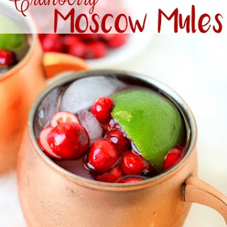 4 Ingredient Cranberry Moscow Mules.