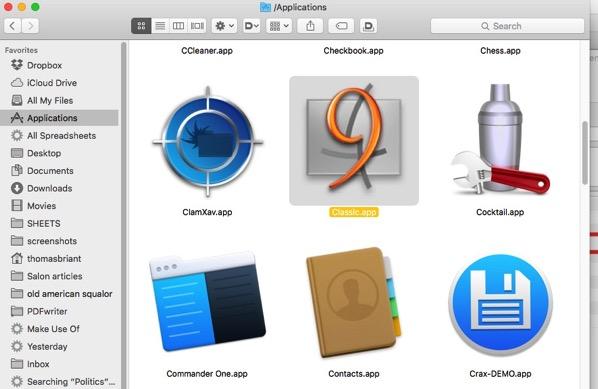 6 Classic in the App Folder