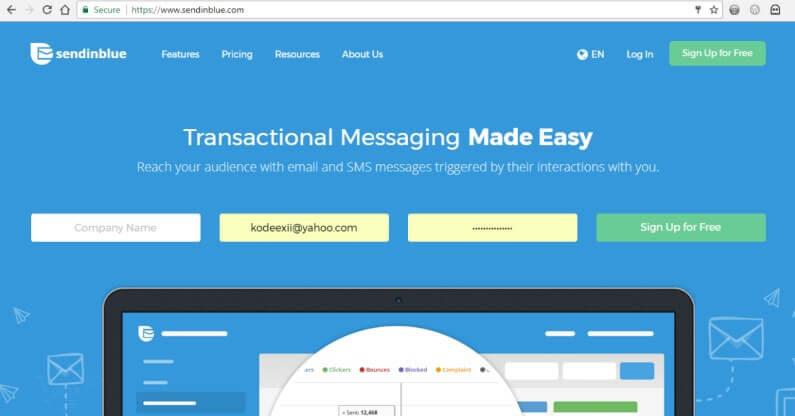 SMTP Providers for WordPress Websites - SendinBlue