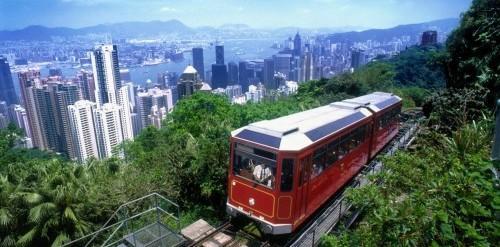 Hasil gambar untuk peak tram hong kong