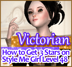 Style Me Girl Level 48 - Victorian - Dot - Stunning! Three Stars