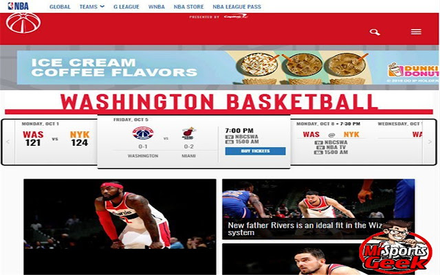 Washington Wizards official website