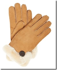 UGG classic sheepskin glove - black also